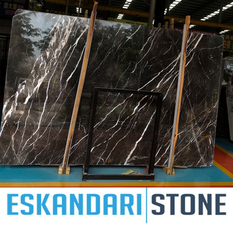Brown marquina marble