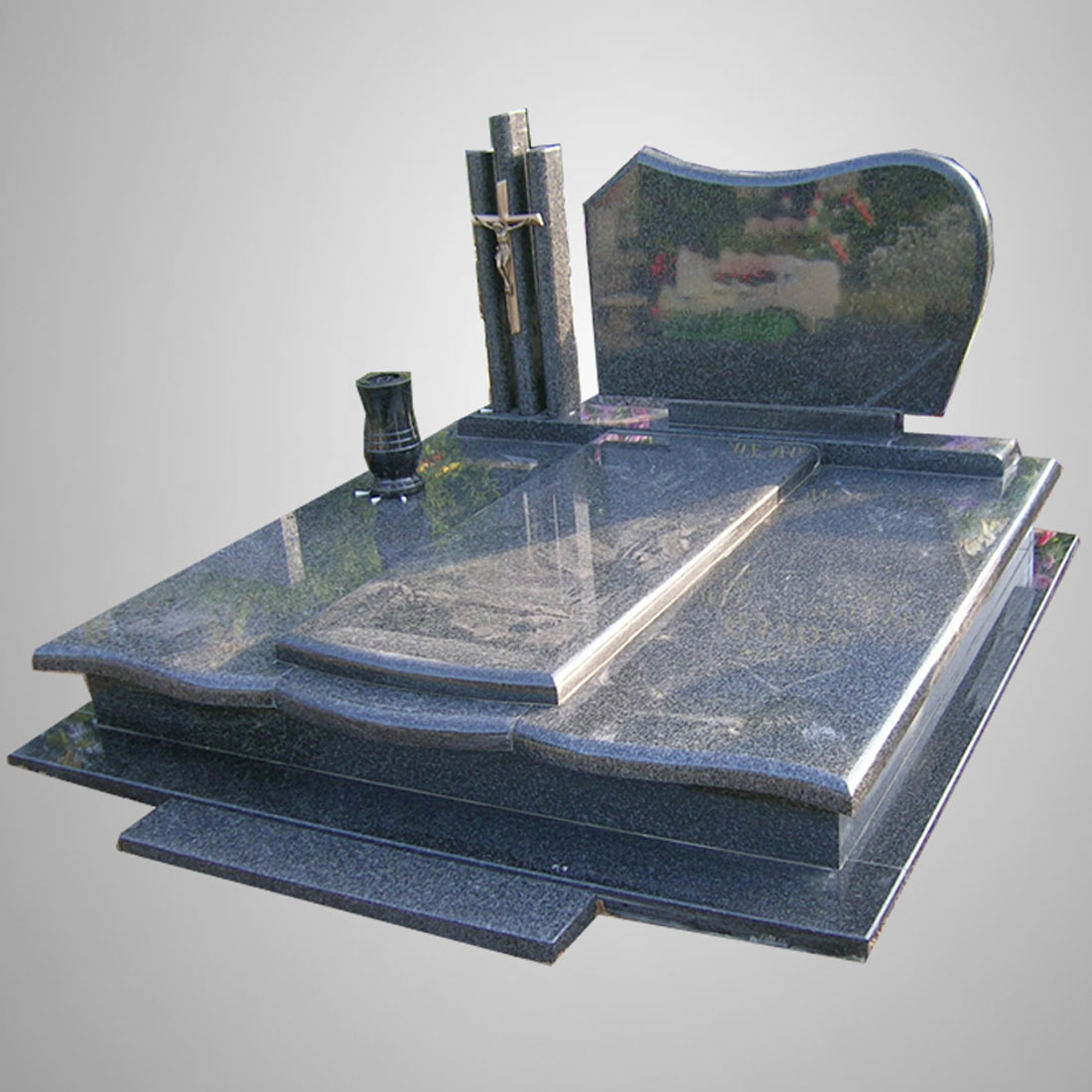Modern Customized Headstone Black Granite