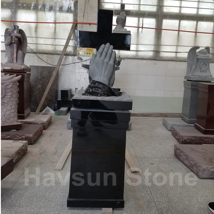 American Praying Hand Pedestal Monument Tombstone