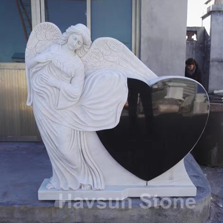 angel heart marble monument tombstone headstone
