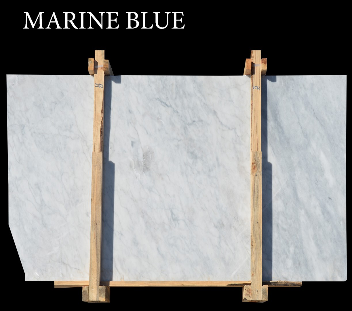 Afyon White Marble  Marine Blue