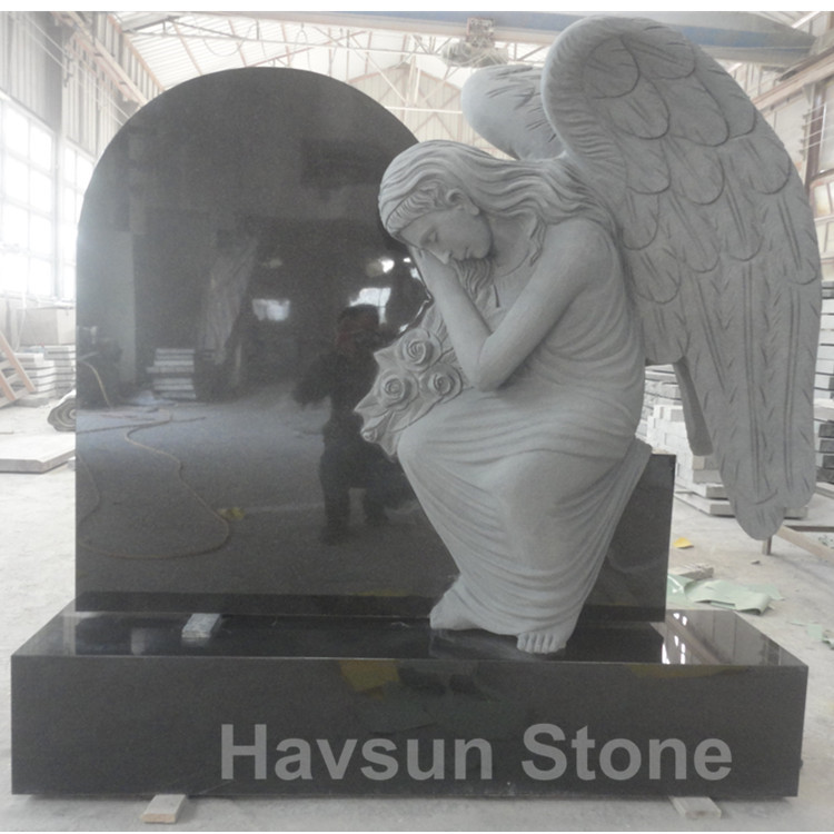 Black Angel European Style Monument Tombstone