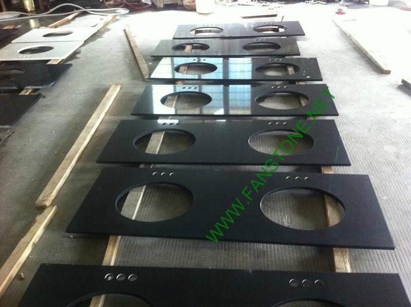 Artificial stone Black quartz vanity top