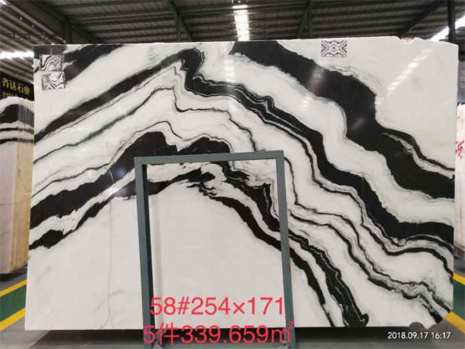 Panda White Marble Slabs White Polished Marble Slabs