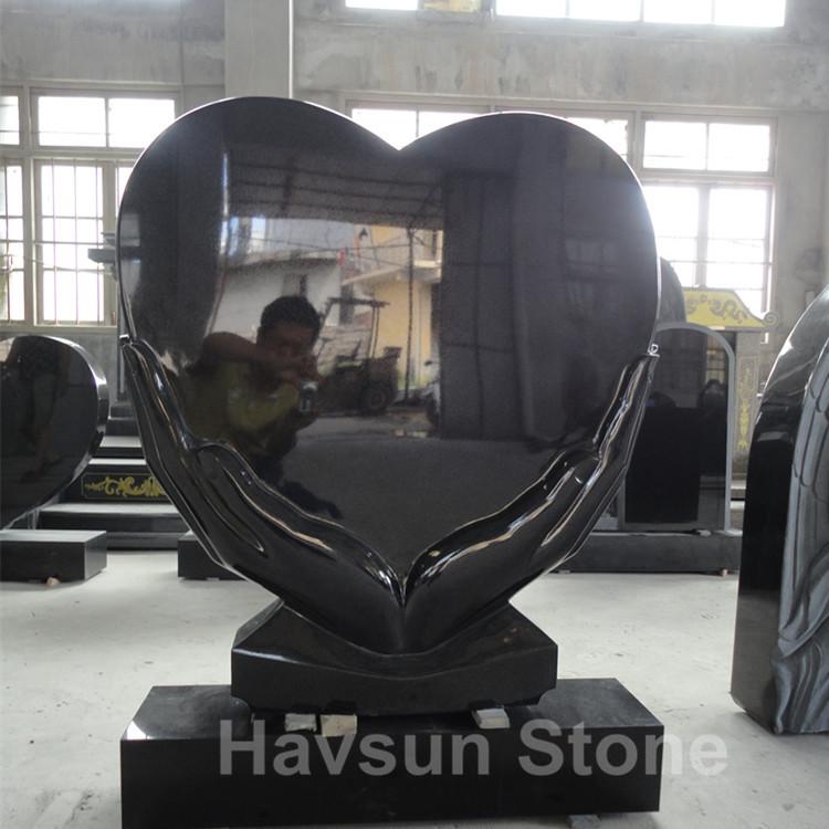 Heart in Hand Granite Headstone Monument Tombstone