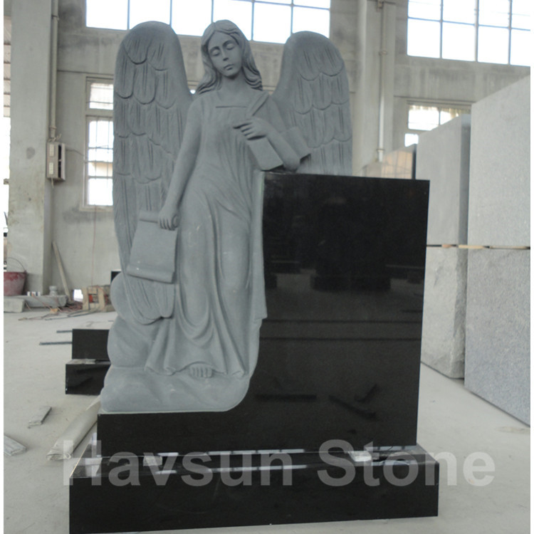 angel with scroll headstone monument tombstone