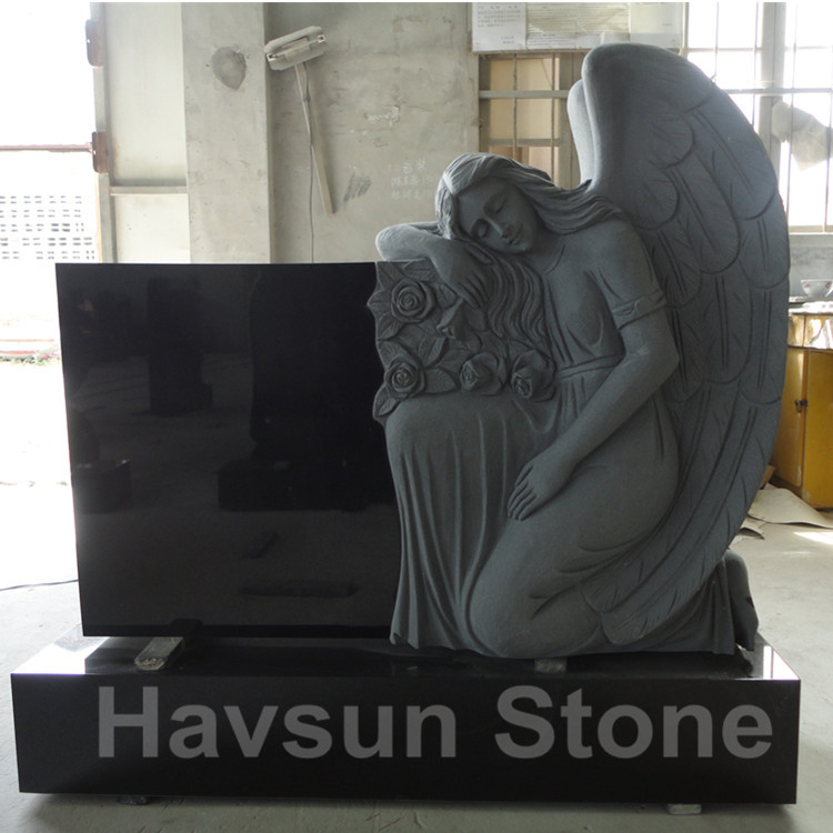 american style angel headstone tombstone monument