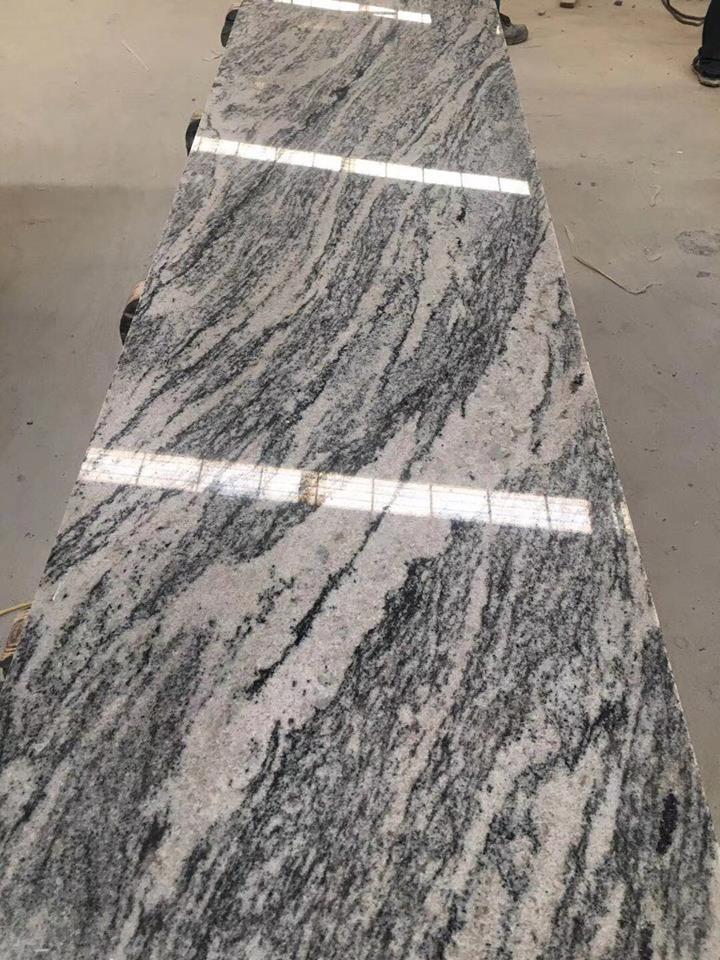 Juparana Wave Granite Prefab Countertop