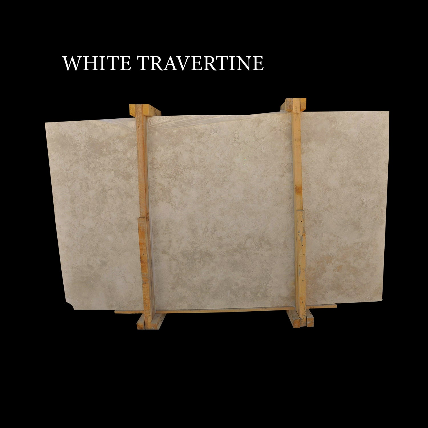 White Travertine Slabs Ivory Cream