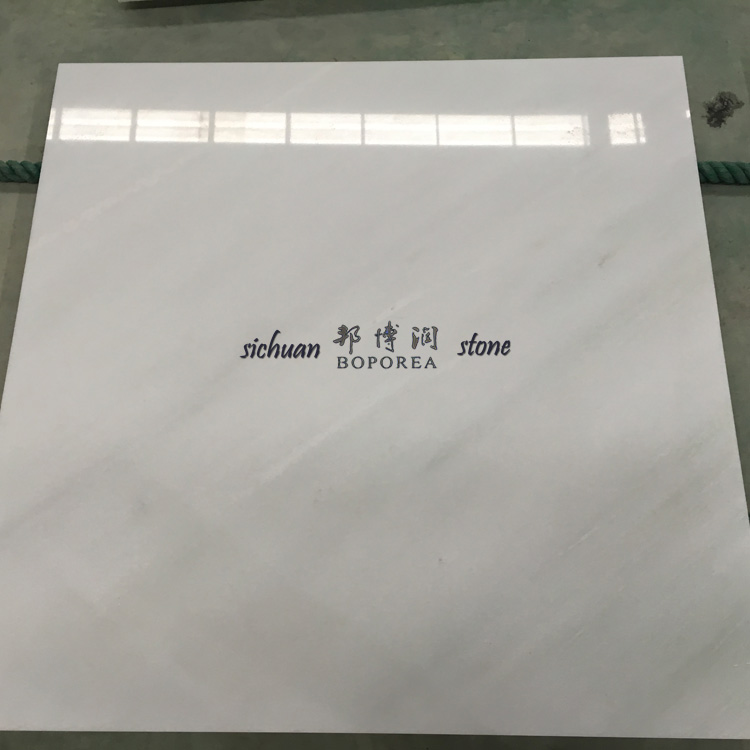 Chinese wholesale white marble tiles for flooring decoration