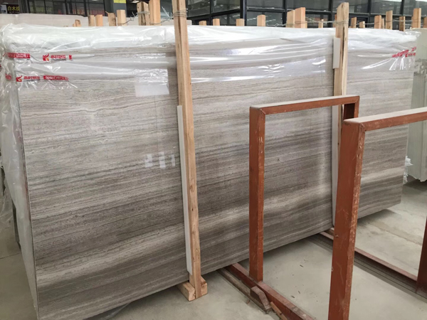 Grey Wood Grain Marble Slab  Grey Serpeggiante
