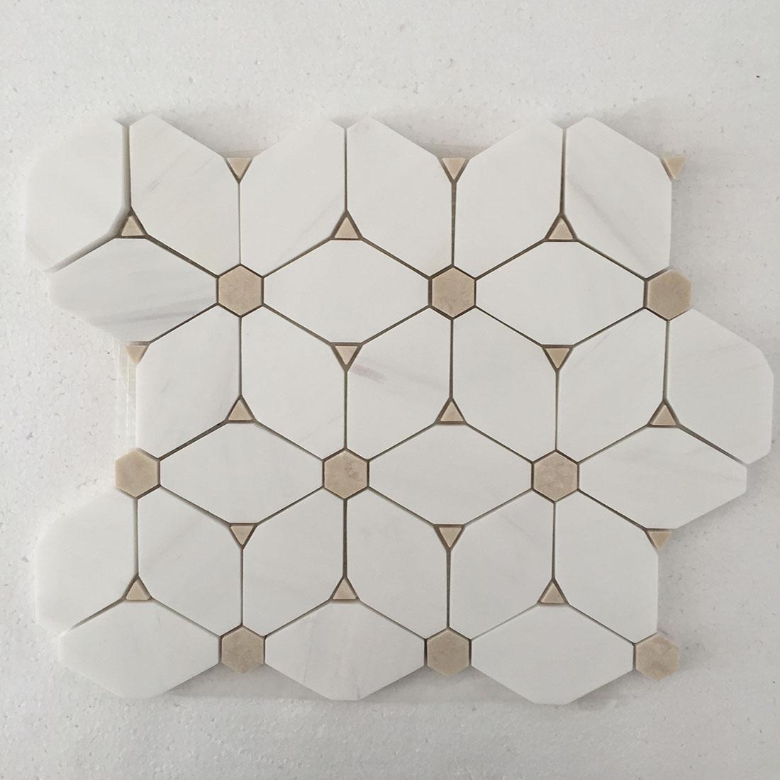 marble mesh-mounted mosaic tile