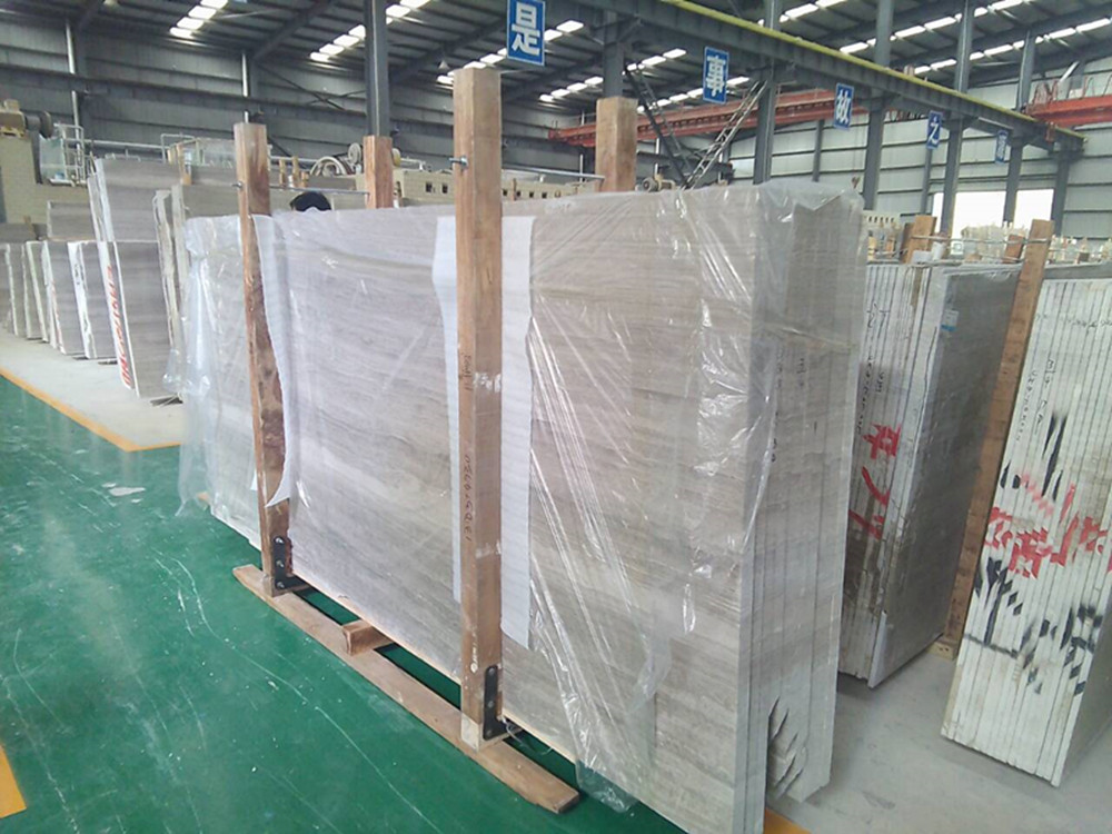 Chinese gery marble slab wood big slabs 4cm for projects