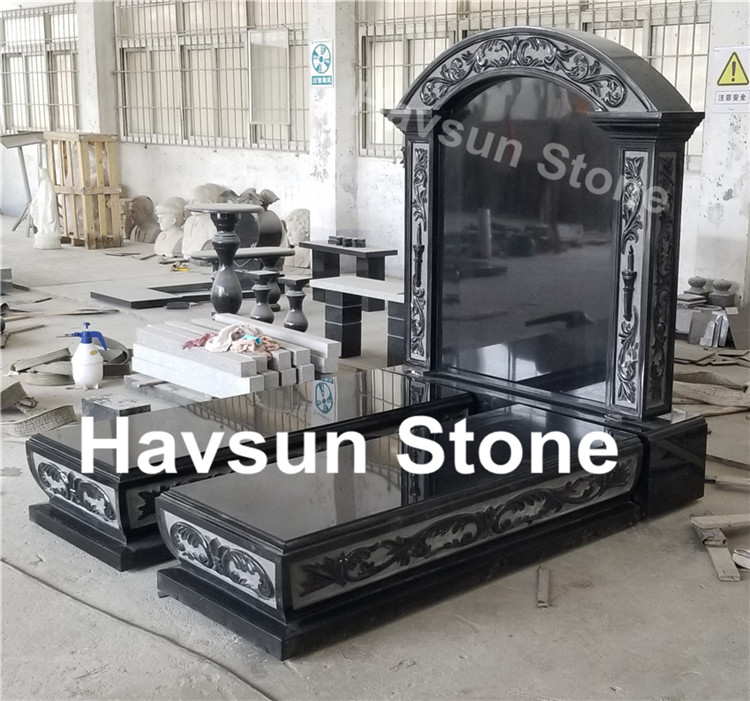 Russian Jews Style Double Monument Tombstone