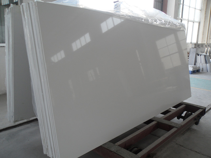 White Quartz Stone Slabs  Engineered quartz Stone for Countertop Cut to Size Tiles