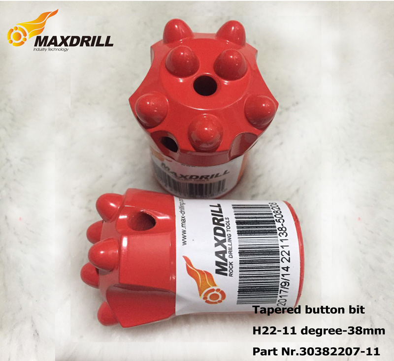 Maxdrill 11 Degree 41mm Taper Button Bit