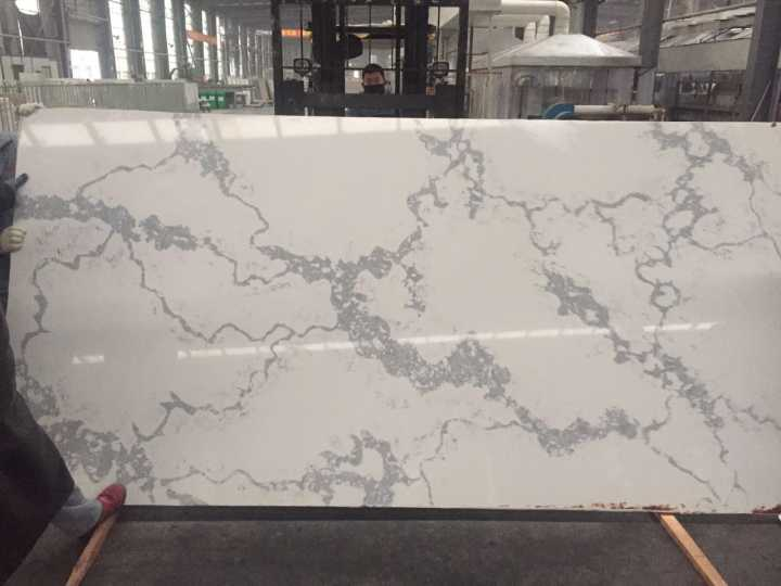 Calacatta white quartz stone slabs for countertops