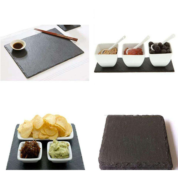 Food serving tray slate cheese board