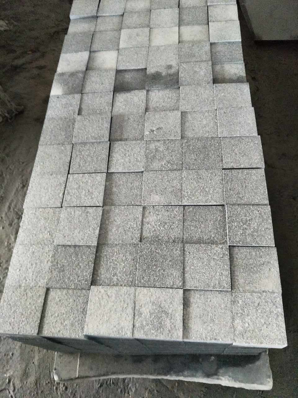 granite G654 dark grey cobbles
