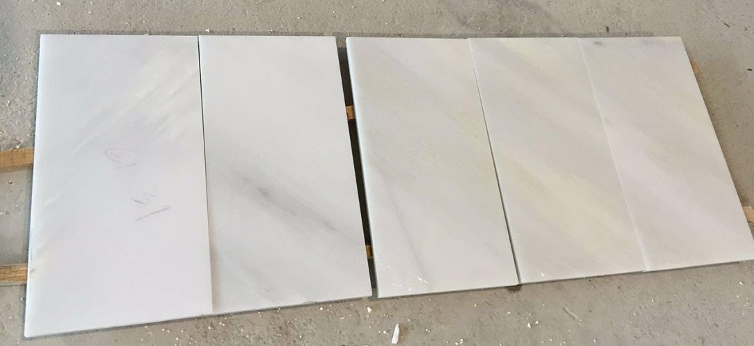 Chinese Natural White Marble Tiles