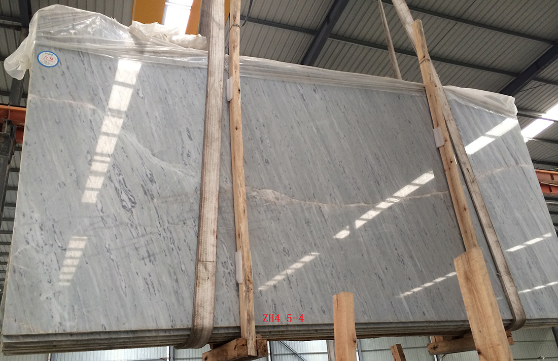 Polaris Bianco Marble White Slabs