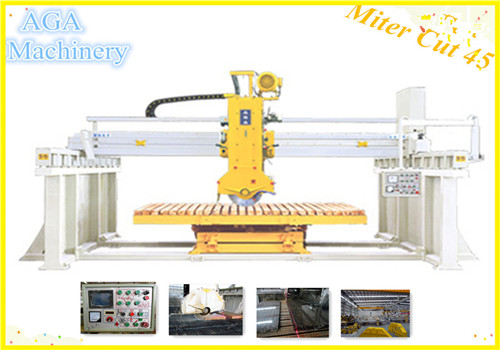 Automatic Stone Cutting Machine with Miter Cut