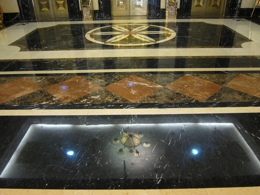 Chinese Crystal Black Marble flooring with polished surface
