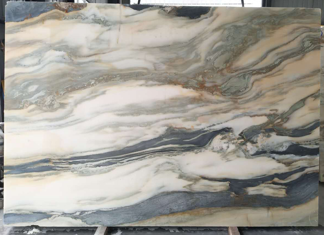 Background Wall Marble White Landscape Painting China White Jade