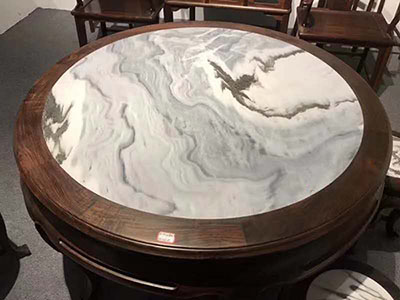Italy Arabscato White Marble Round Table