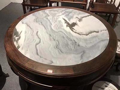 Italy Arabscato White Marble Round Table