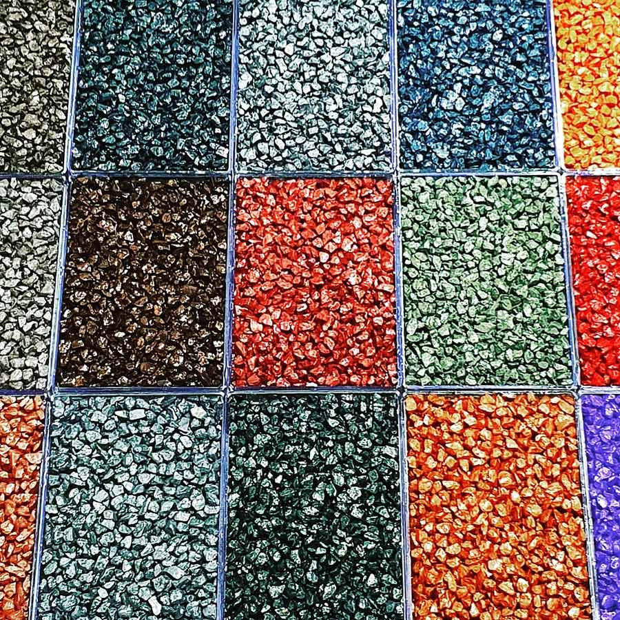 Colored Nano Metallic Quartz Stone Carpet