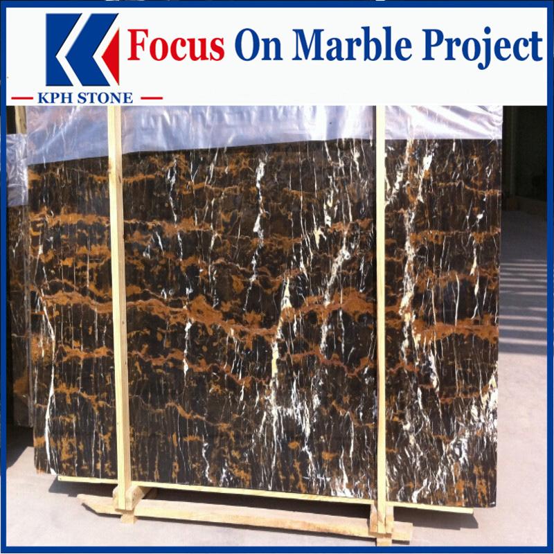 Afghan Gold & Black Marble Slabs for MGM Macau