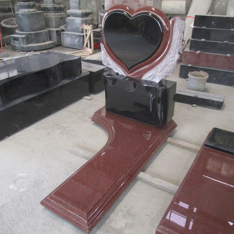Red Heart Memorial Tombstone Monument Gravestone