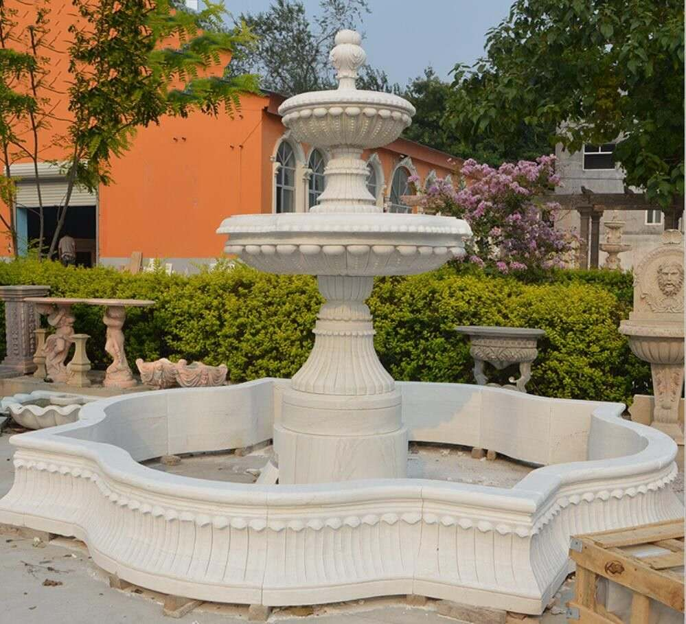 Carved garden water fountain stone fountain