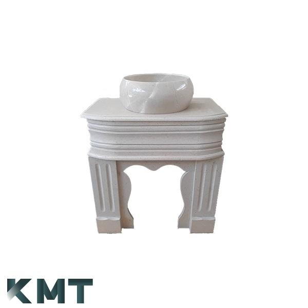 Pedestal Sink  Stone Basin S-15002