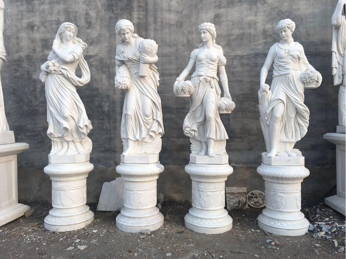 Carved marble sculptures stone statues
