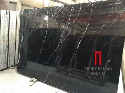 Black Maquina Marble Tile