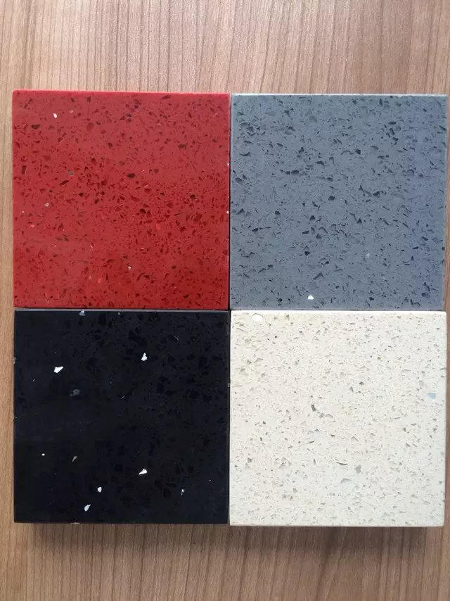 Glitter color quartz slabs with mirror