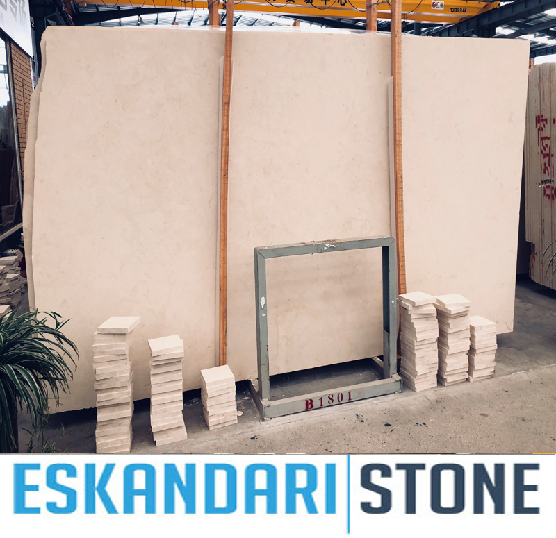 Iran cream limestone slabs