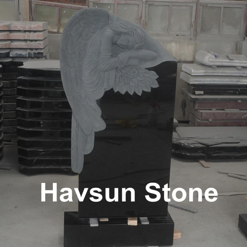 Russian Style Angel Flower Headstone Tombstone