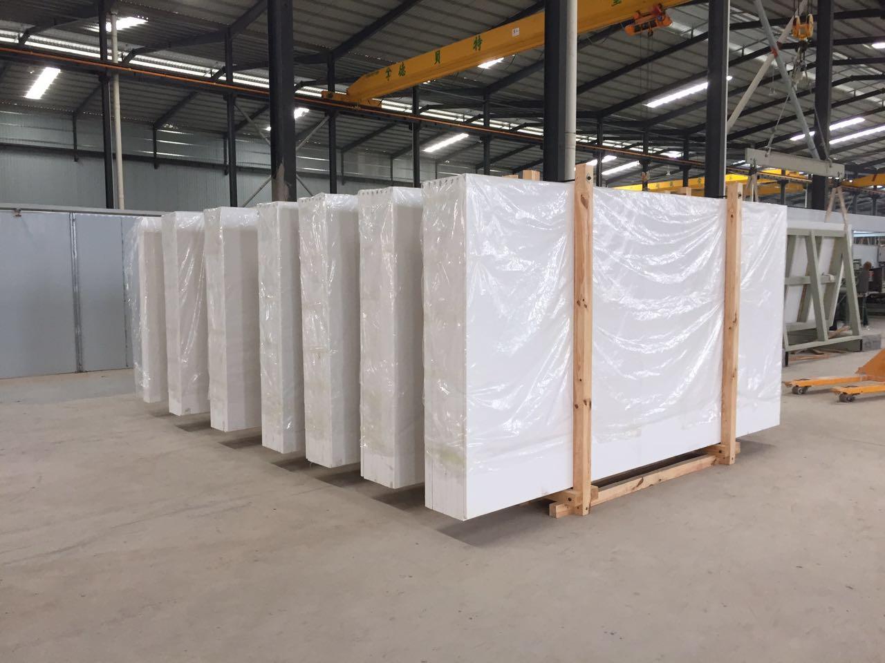 white galaxy quartz stone  slabs cheap price for flooring