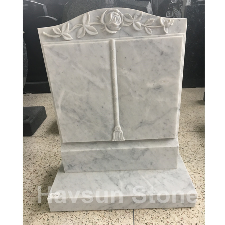 Marble Book Memorial Headstone for UK Ireland