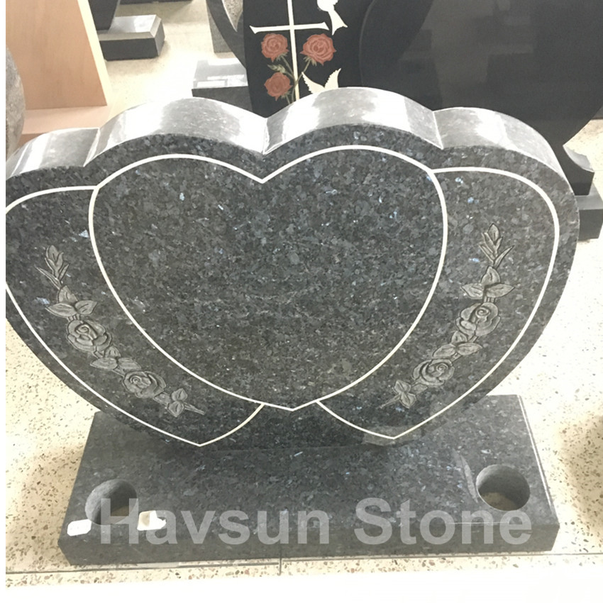 Triple Heart Headstone Memorial for UK and Ireland