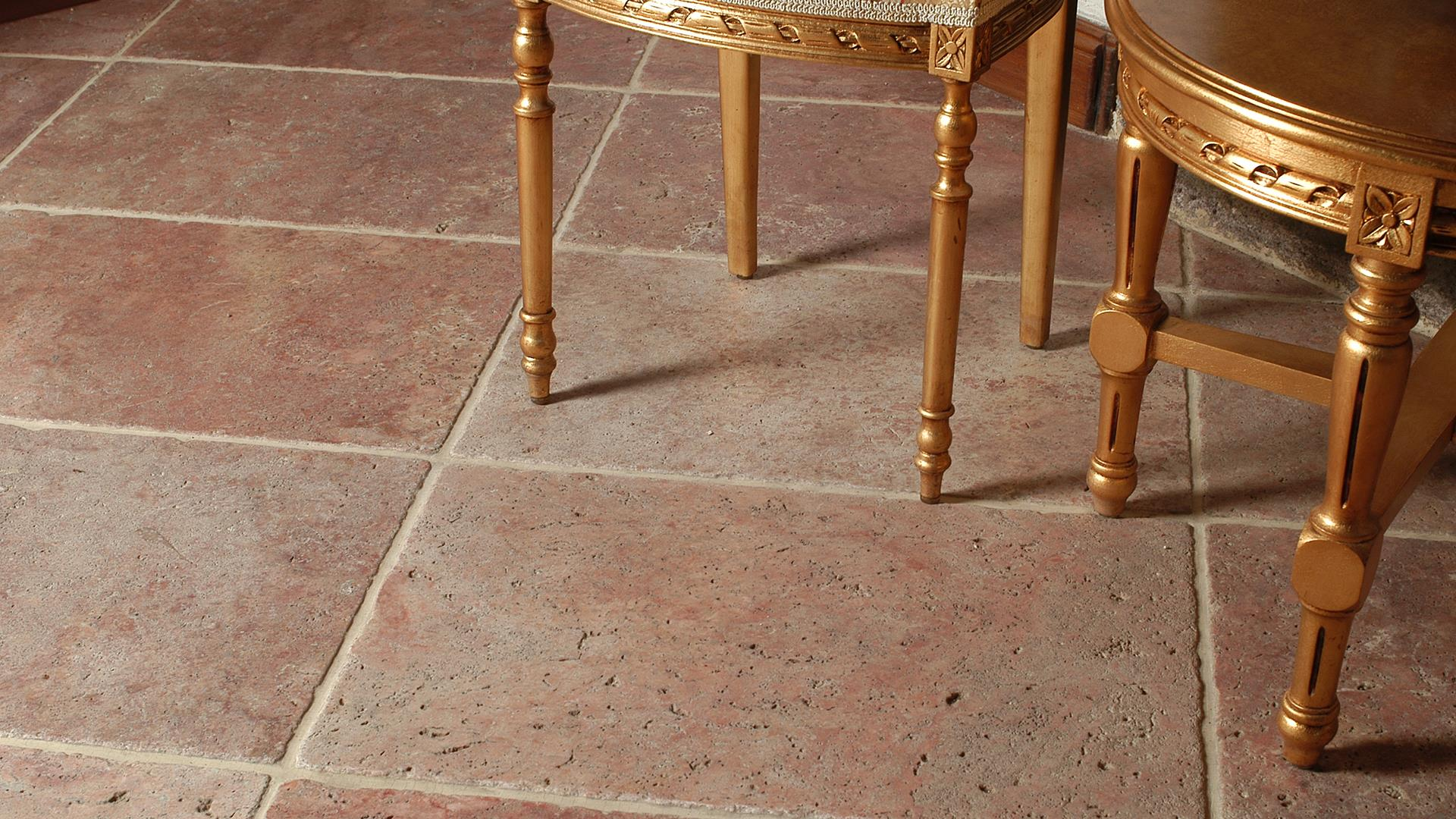 Rouge Fluers Red Travertine