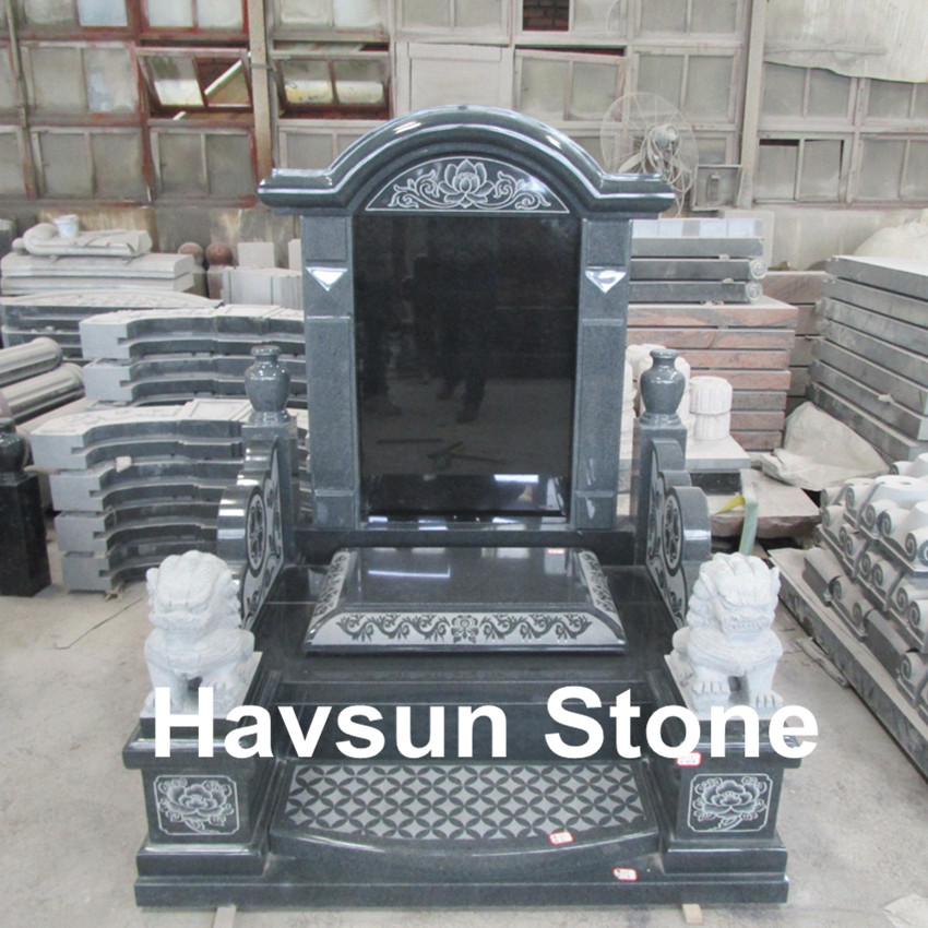 Chinese Style Asian Style Tombstone Monument