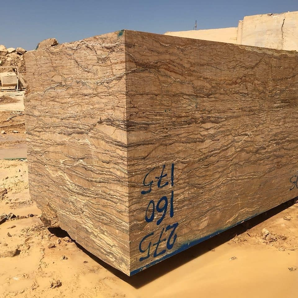 Walnut Travertine Iranian Natural Stone Blocks