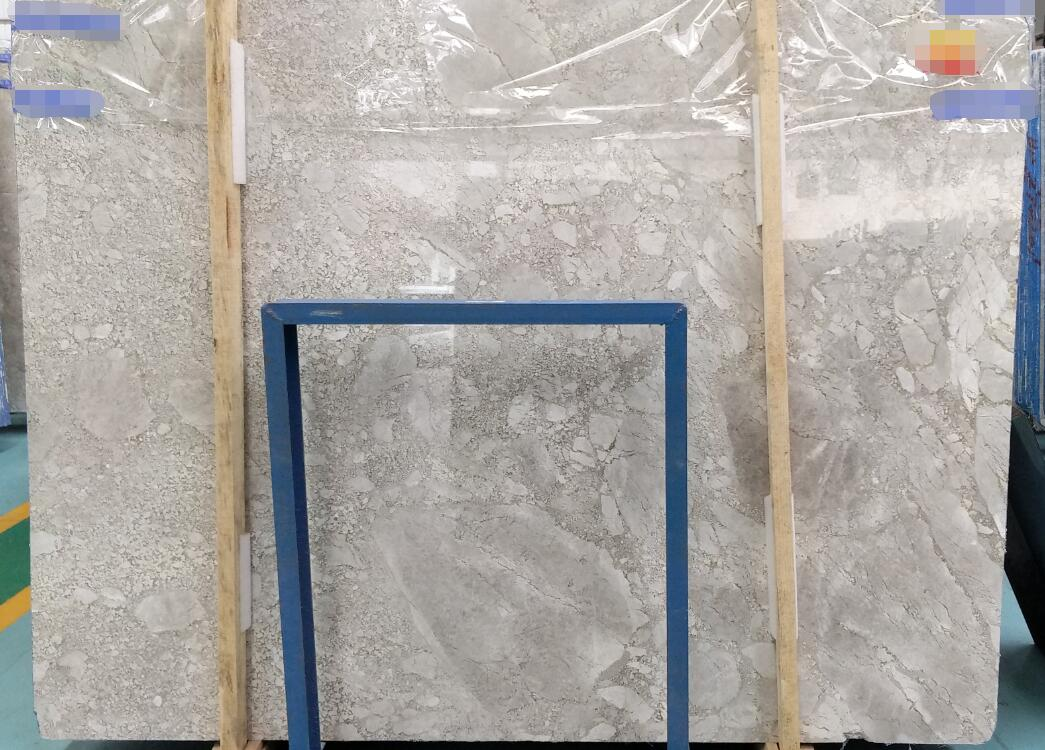 3D Grey Polished Marble Slabs