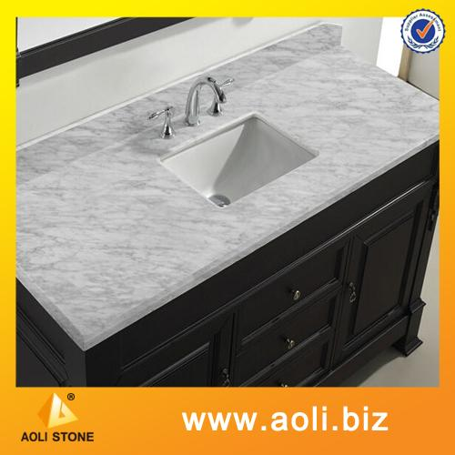 Guangxi white marble cut-to-size countertop vanity tops