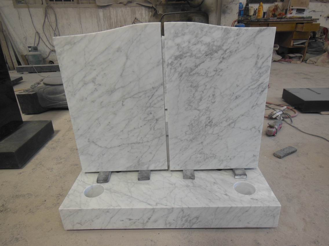white marble tombstone