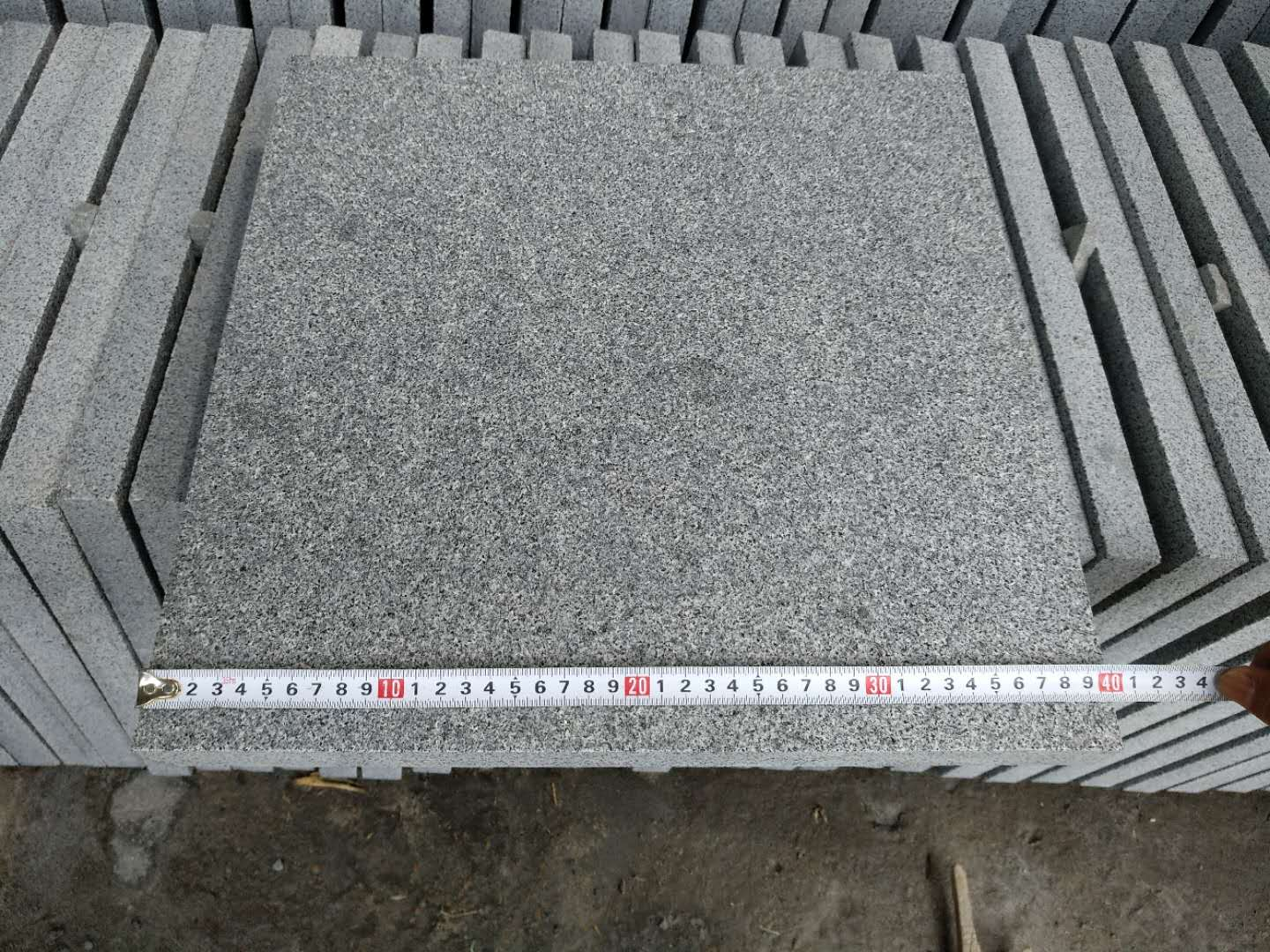 G654 Granite Tiles Flamed Grey Granite Tiles